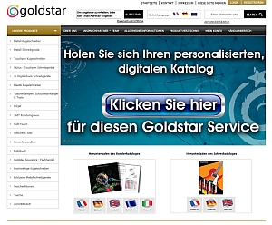 Screenshot GoldstarHomepage deutsch - Goldstar: Neuer Katalogservice