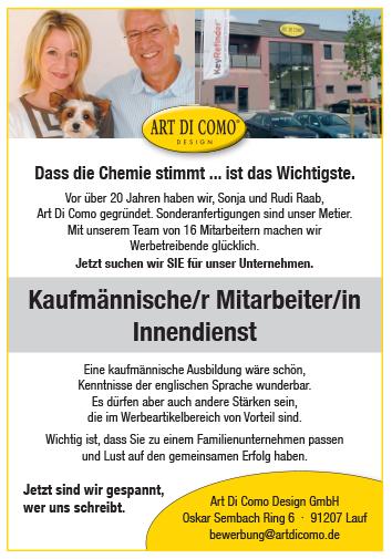 04 ADC Stellenanzeige Kaufmann innen DRUCK - Kaufmännische/r Mitarbeiter/in Innendienst