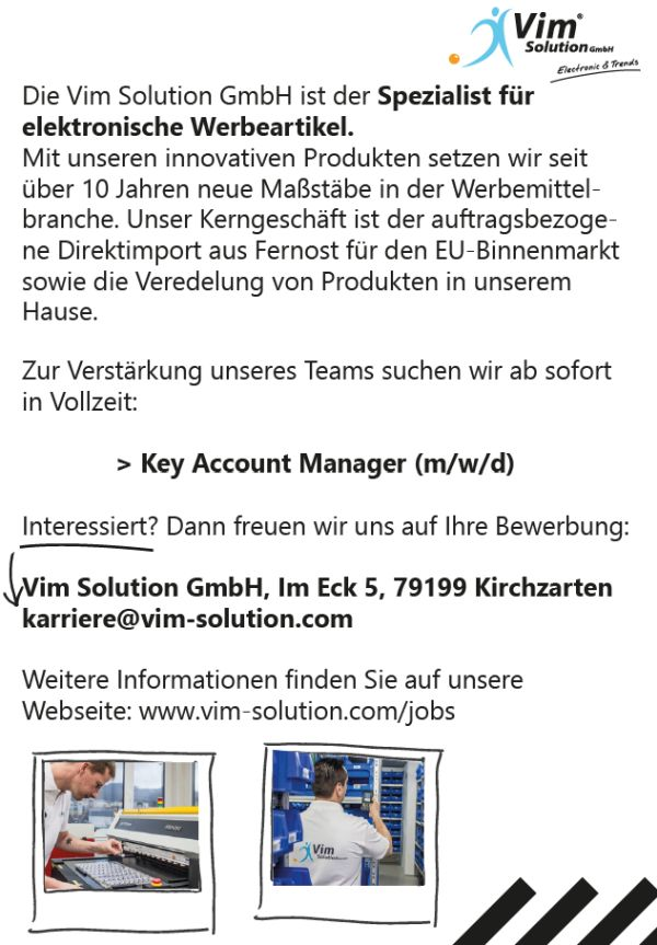 706 vimsolution - Key Account Manager (m/w/d)