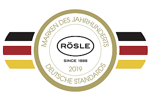 """MDJH Markensiegel Rosle GOLD DEU - Rösle: """"Marke des Jahrhunderts"""""""