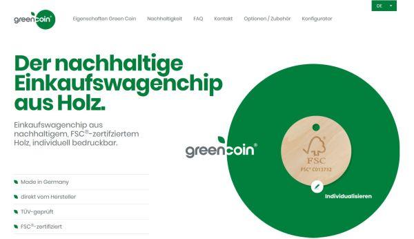 Green Coin - Neue Website für den Green Coin