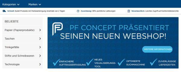pfconcept webshop - PF Concept: Neuer Webshop