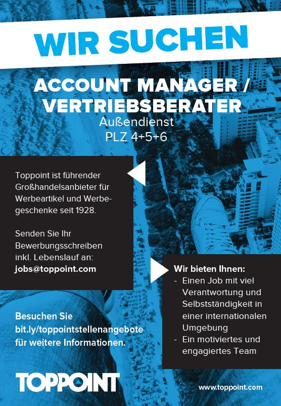 728 toppoint - Account Manager/Vertriebsberater (m/w/d)
