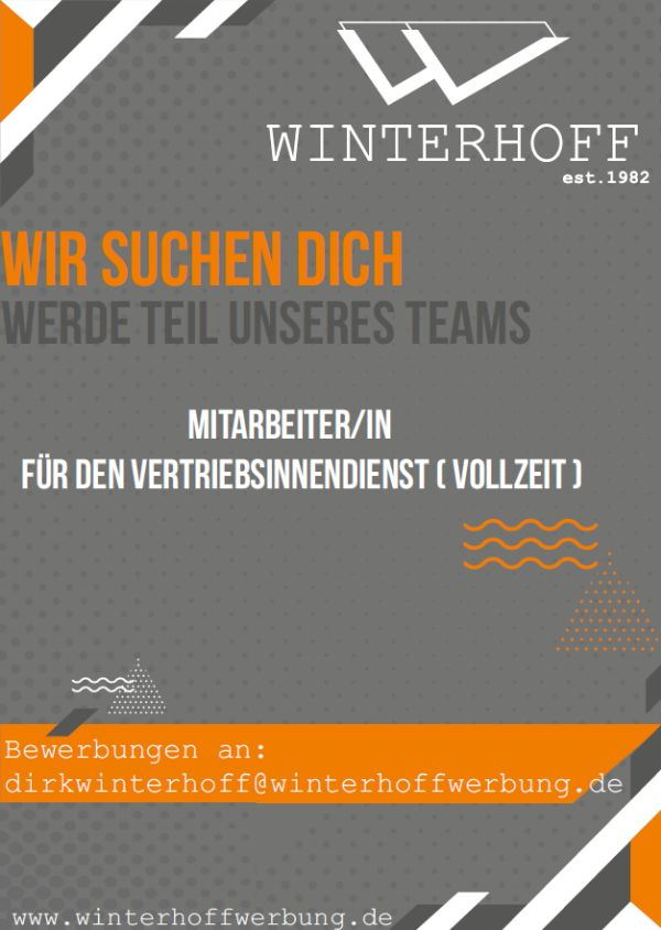 730 winterhoff - Mitarbeiter für den Vertriebsinnendienst (m/w/d)