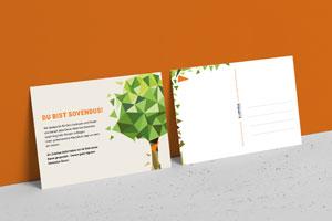 Postkarten Sovendus - Businesszeug: Nachhaltig notiert