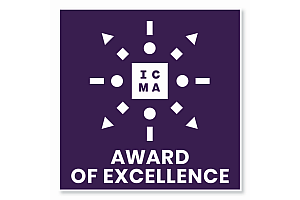 09 ICMA Logo Award 1 Blue - Karl Knauer: Auszeichnung für Porsche-Cover